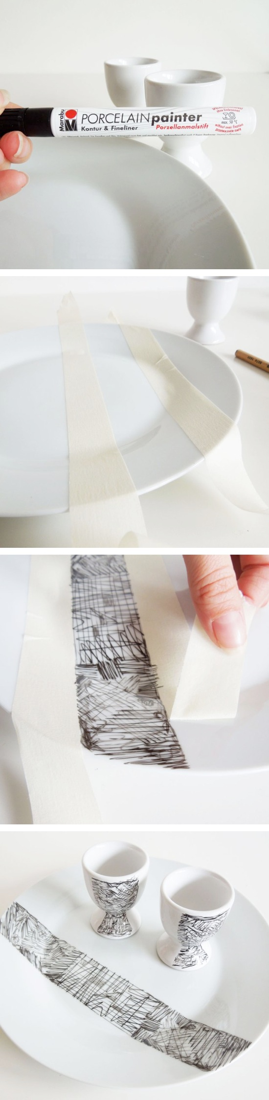 Scribble Decorated Porcelain | Craft By Photo