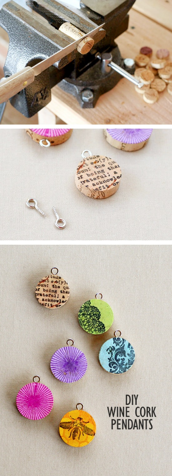 Wine Cork Pendants | Craft By Photo