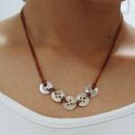 Button Necklace and Bracelet Combo