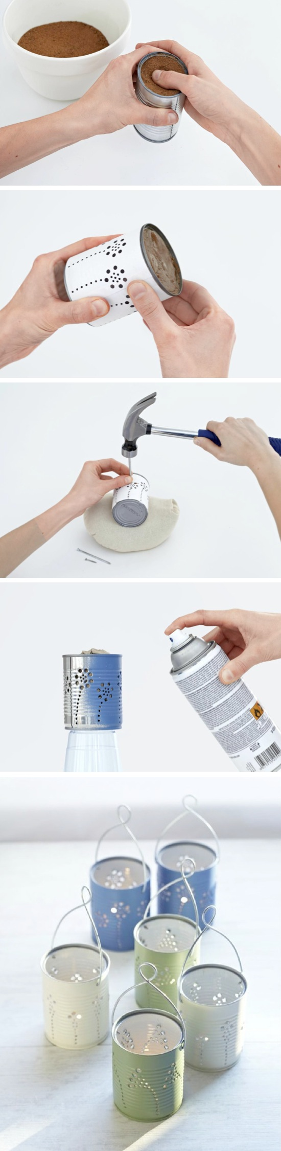 DIY Tin Can Lanterns | Craft By Photo