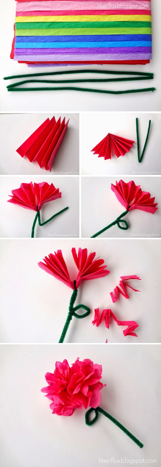 Easy tissue paper flowers mightylinksfo Images