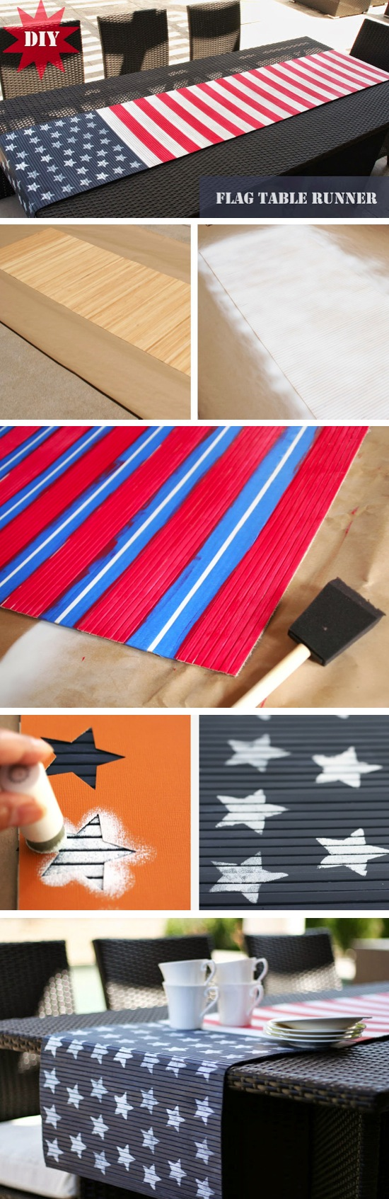 DIY American Flag Table Runner | Craft By Photo