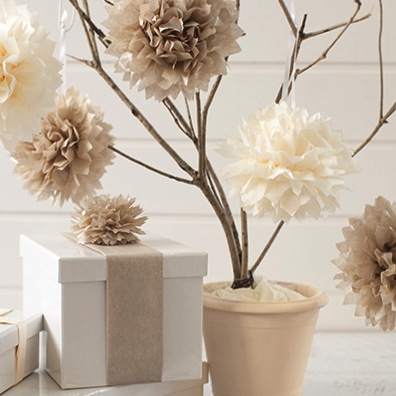 how to do tissue paper pom poms Tissue paper pom-poms add a festive flair to a wedding and reception they are very easy to make and at a cost of under $5, you will get a lot of bang for your buck.
