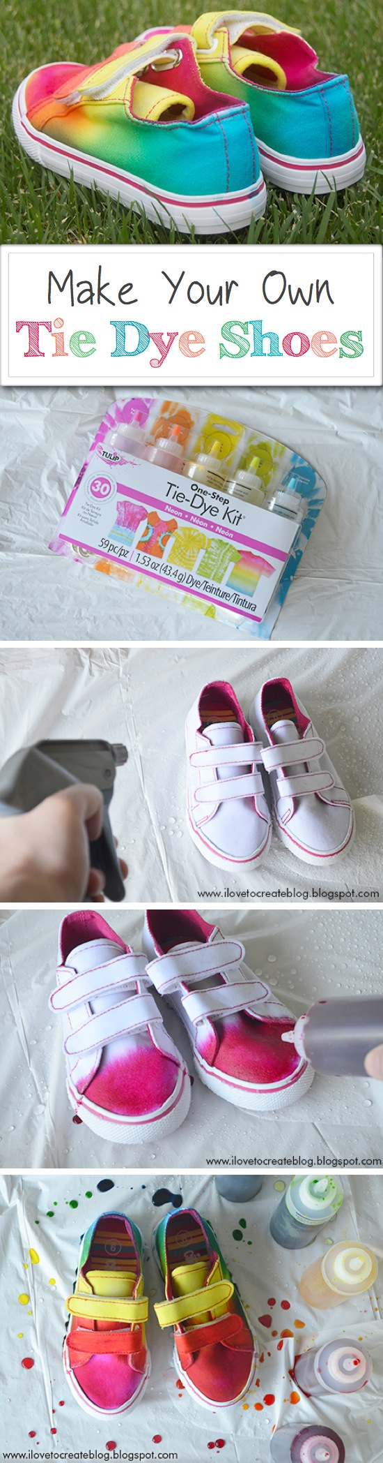 Make Your Own Tie Dye Shoes