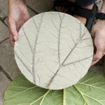 DIY Leaf Imprinted Garden Stepping Stones