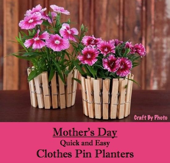 Mother's Day Clothes Pin Planters