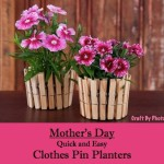 Clothes Pin Flower Planters For Mom