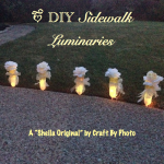 DIY Sidewalk Luminaries