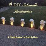 DIY Sidewalk Luminaries