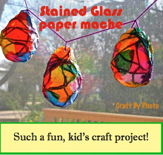 Stained glass balloon #1