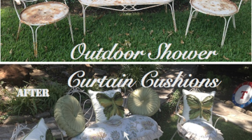 Outdoor Shower Curtain Cushions