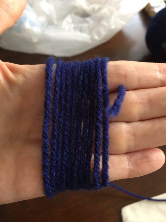 Yarn on hand